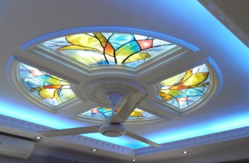 Glass False Ceiling Design
