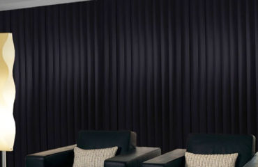 Black Window Vertical Blinds