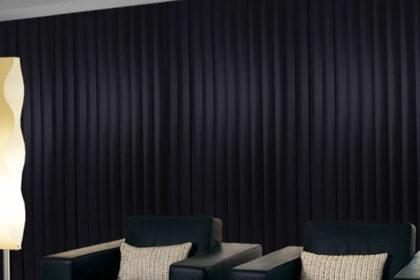 Black Window Vertical Blinds